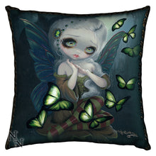 Absinthe Butterflies Cushion by Jasmine Becket-Griffith