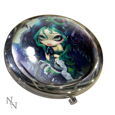 Compact Mirror Perched & Sat & Nothing More by Jasmine Becket-Griffith