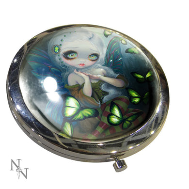 Compact Mirror Absinthe Butterflies by Jasmine Becket-Griffith