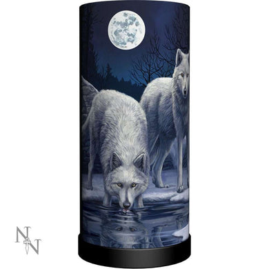 Warriors Of Winter Lamp by Lisa Parker