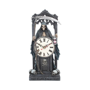 Time Waits For No Man Clock by Anne Stokes