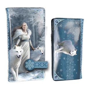 Winter Guardians Embossed Purse by Anne Stokes