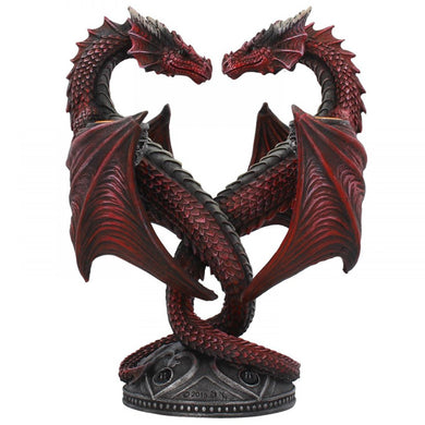Dragon Heart Candle Holder - Valentines Edition by Anne Stokes