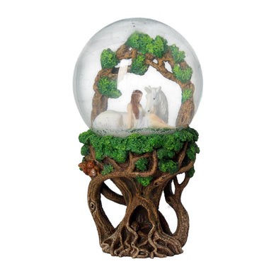 Pure Heart Snowglobe by Anne Stokes