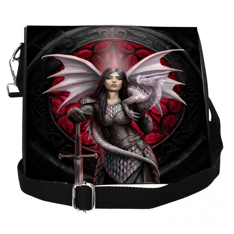 Valour Embossed Shoulder Bag by Anne Stokes