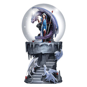 Dragon Mage Snowglobe by Anne Stokes - PREORDER