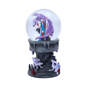 Dragon Mage Snowglobe by Anne Stokes