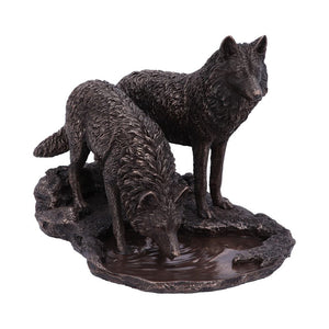 Warriors Of Winter Bronze Figurine by Lisa Parker