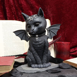 Large Malpuss Winged Occult Cat Figurine