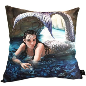 Hidden Depth Silk Cushion by Anne Stokes