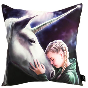 The Wish Silk Cushion by Anne Stokes
