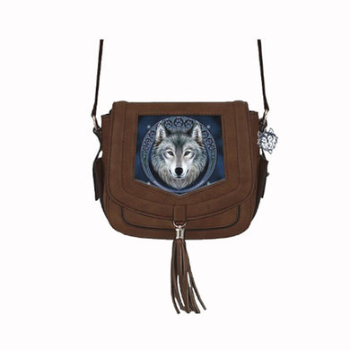 Lunar Wolf Side Handbag by Anne Stokes - PREORDER