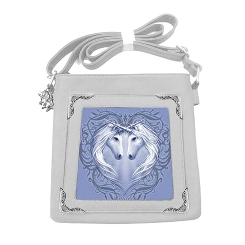 Unicorn Heart Side Bag by Anne Stokes