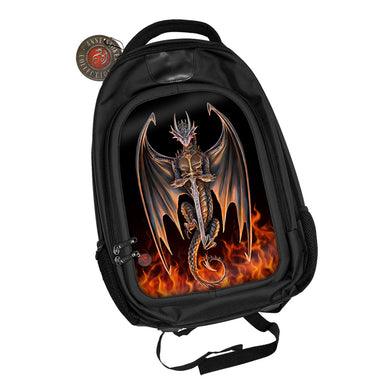 Dragon Warrior 3D Lenticular Backpack by Anne Stokes
