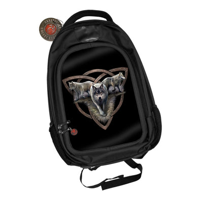 Wolf Trio 3D Lenticular Backpack by Anne Stokes