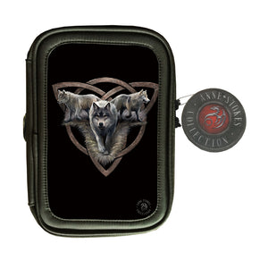 Wolf Trio 3D Lenticular Pencil Case by Anne Stokes