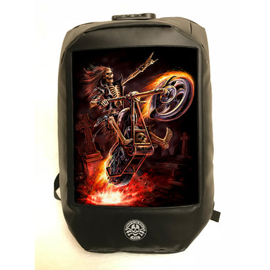Hell Rider 3D Lenticular Backpack by Anne Stokes