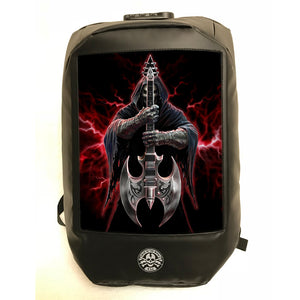 Rock God 3D Lenticular Backpack by Anne Stokes