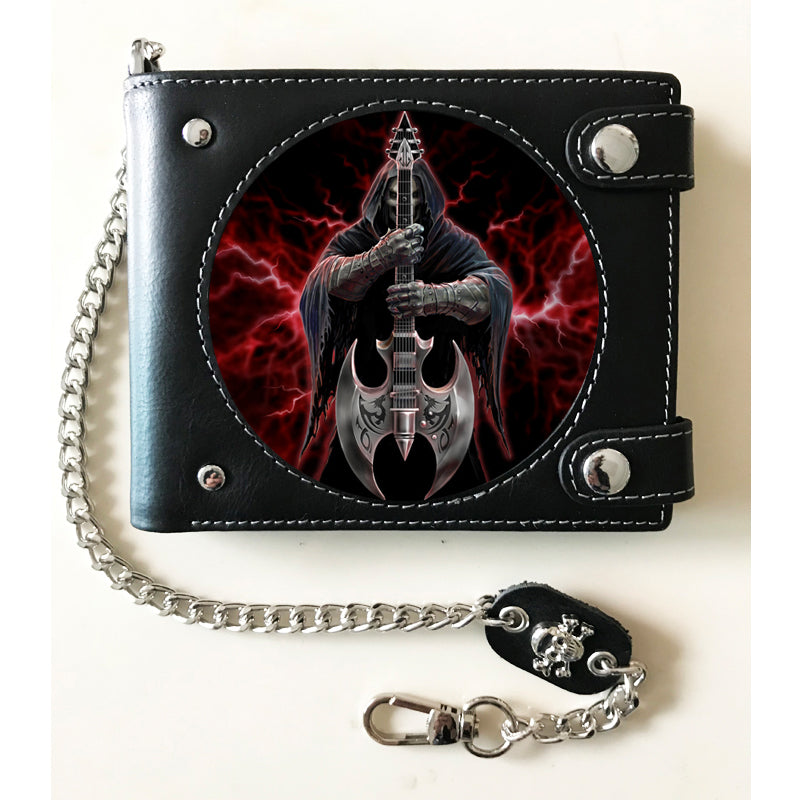Rock God 3D Lenticular Wallet by Anne Stokes