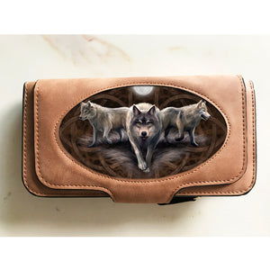 Wolf Trio Purse by Anne Stokes