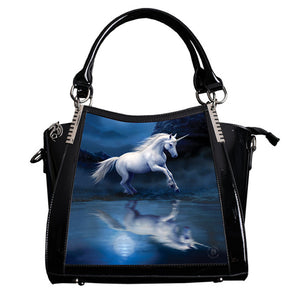 Moonlight Unicorn 3D Lenticular Handbag by Anne Stokes