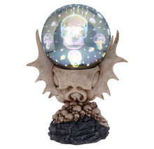 Skeletal Realm Dragon Skull & Light Up Orb Figurine