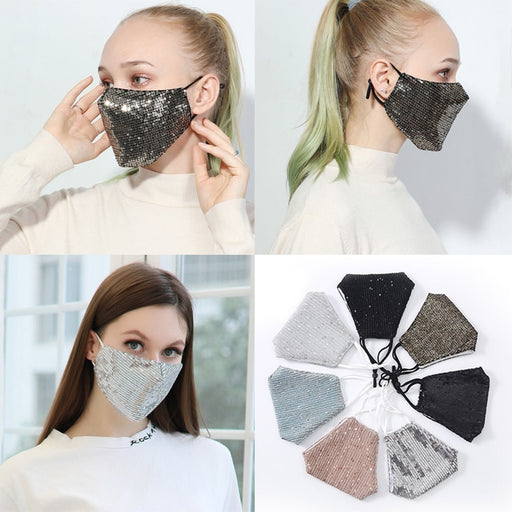 Scarf Kids Women Sequin Face Maskes Unisex Women Reusable Washable Maske Breathable Dustproof Protective Face Maks Cubrebocas 9