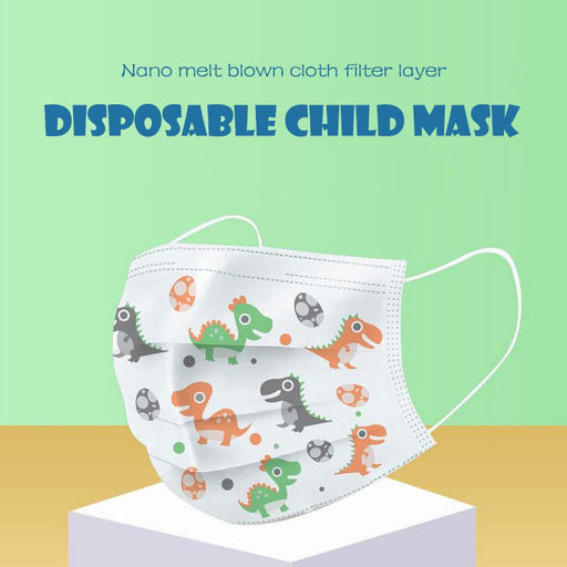 20/30/40/50/100Pcs Kids Scarf Disposable Face Masks 3 Layer Anti-Dust Pollution Masks Fabric Non Wovens Dustproof Cartoon Mask