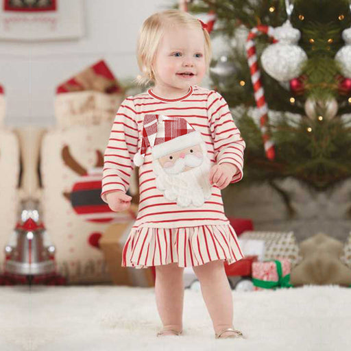 Baby Girls Santa Striped Frock | Halloween Party Dress