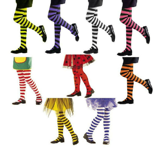 Girls Striped Tight Stockings | Halloween Cosplay Costume