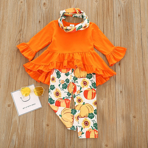 Baby Girls Halloween Winter Outfit | Top & Pant Dress Set