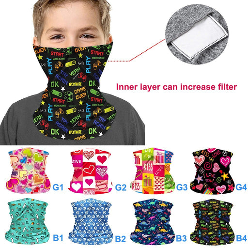Multi-pattern Print Kids Facemask Bandana Scarf For Face