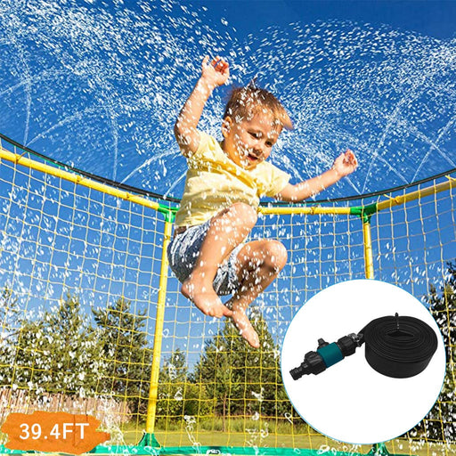 Kids Trampoline & Water Spray Gun | Water Sprinkler Toy