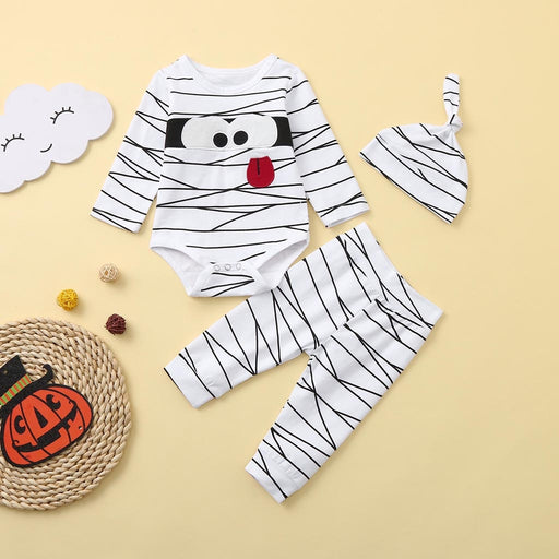 First Halloween Newborn Kids Set | Romper+Pant+Cap Dress Set