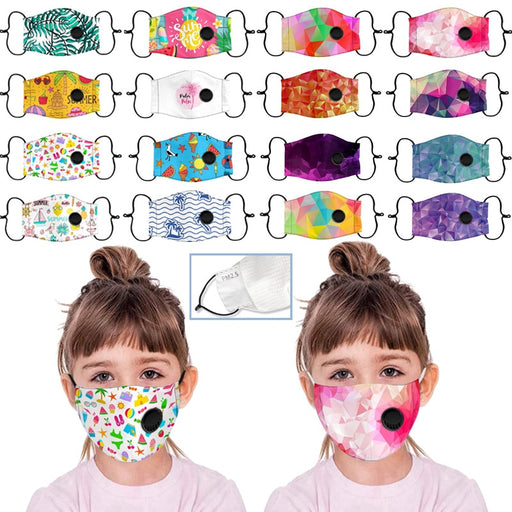 Kids Boys Girl Cotton Washable Cartoon Facemask Cartoon Maske Activated Carbon Face Maskswashable And Reusable Scarf Maske 9