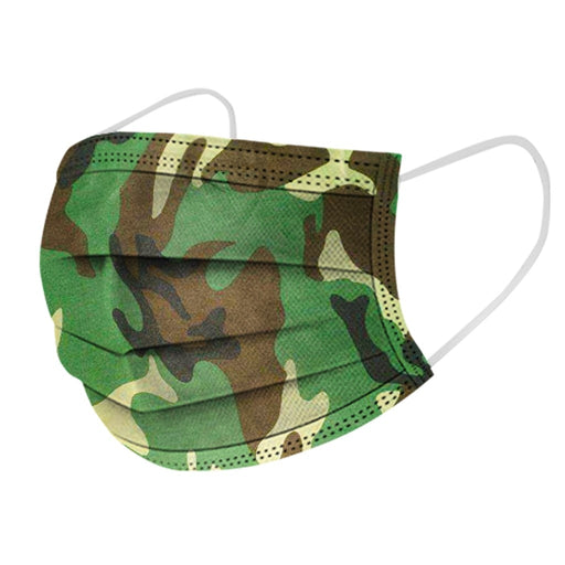 50/20pc Unisex Camouflage Print Non Woven Disposable Facemask 3 Layer Anti-dust Disposable Facemask Scarf Mascarilla Desechable