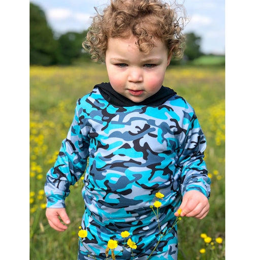 Baby Kids Camouflage Print Outfit | Hooded Top & Pant Set