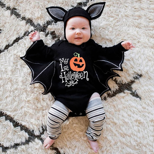 Newborn Kids Halloween Clothing | Romper & Hat Costume Set