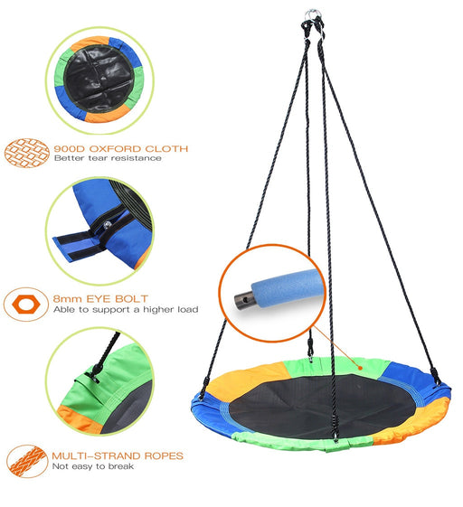 Kids Flying Saucer Swing | Safe Multi Strand Ropes Swing