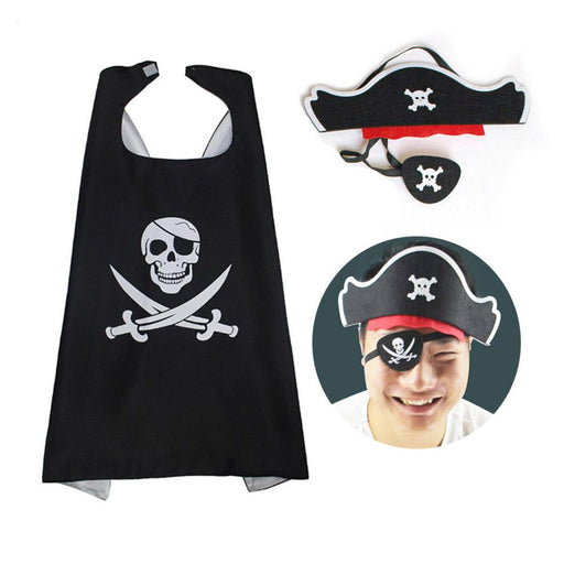 Kids Halloween Pirate Cape Costume | Performance Costume Set