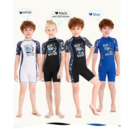 2020 Kids Girls Boys Diving Suit Neoprenes Wetsuit Children Keep Warm One-piece Long Sleeves UV Protection Swimwear