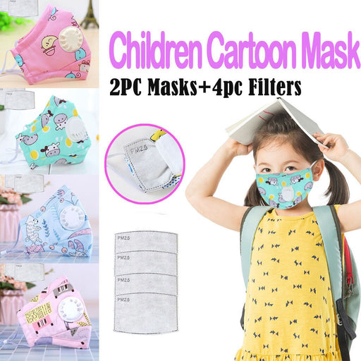 Washable Cute Print Adjustable Band Facemasks For Children