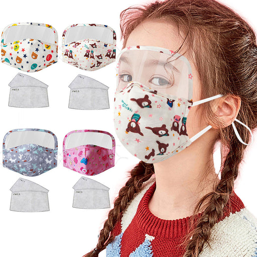 Mascarilla Facemask Scarf 2020 Kid Face Mask with Eyes Shield Reusable Cartoon Dustproof PM2.5 Respirator Cover Masks mascarar 9