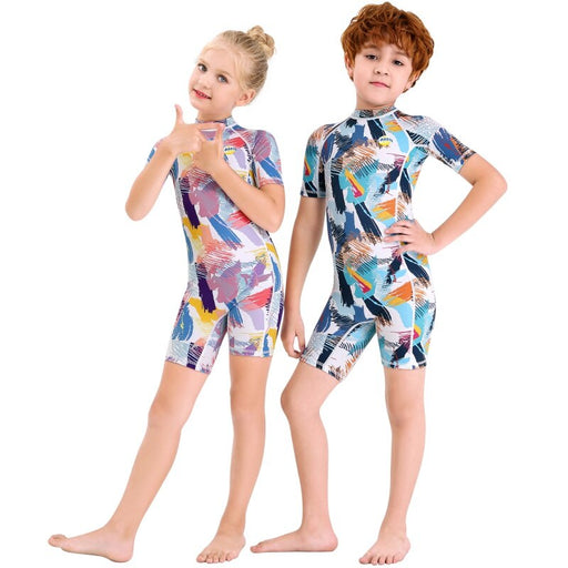New Kids Girls Boys Diving Suit Neoprenes Wetsuit Children For Keep Warm One-piece Long Sleeves UV Protection New Arrival