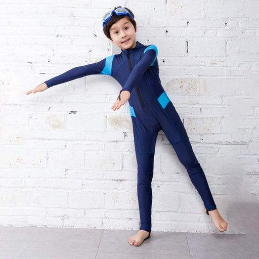 0.55mm Neoprene Divng Suit For Children Keep Warm Long Sleeve One Piece Surfing Kids Wetsuit Snorkeling Rash Guard Diving Suit