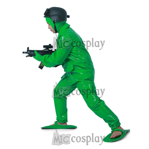 Boys Green Army Man Dress | Halloween Soldier Costume
