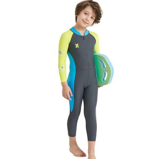 2019 New 2.5MM Neoprene Wetsuit Kids Diving Suit Children For Boys Girls Keep Warm One-piece Long Sleeves UV Protection Swimwear