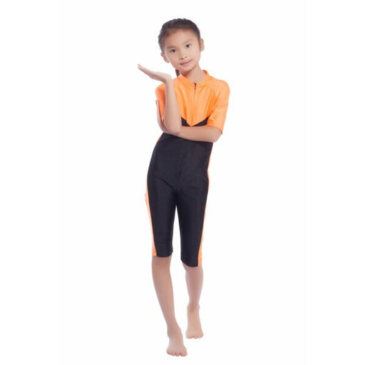 Cozy Kids Girls Modest Swimwear Swimsuit Muslim Islamic One-piece Swimsuit S-XL New Style