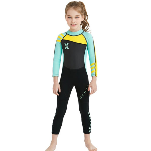 New Kids Diving Suit 2.5MM Neoprene Wetsuit Children For Boys Girls Keep Warm One-piece Long Sleeves UV Protection Swimwear