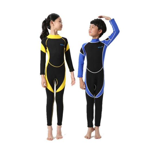 1 Piece Neoprene Wetsuits Kids Swimwears Long Sleeves Boys Girls Diving Suits Surfing Children Rash Guards Snorkel